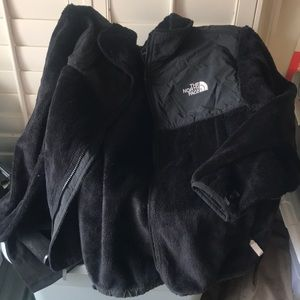 Northface blach fur jacket